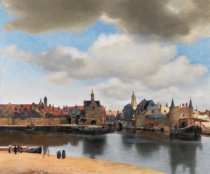 Johannes Vermeer, A View of Delft, c1660-1661