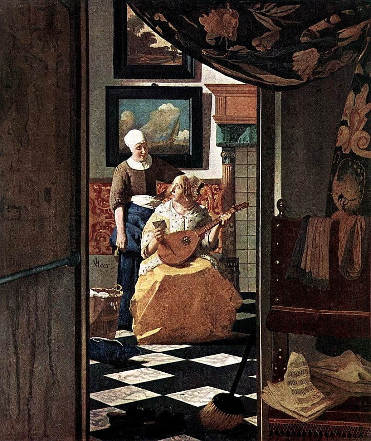 Johannes Vermeer, The Love Letter,c. 1669 - c. 1670