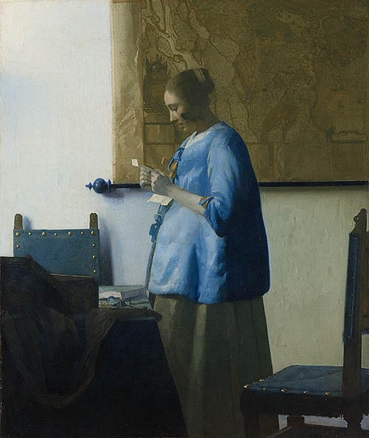 Johannes Vermeer, Woman Reading a Letter,c. 1663