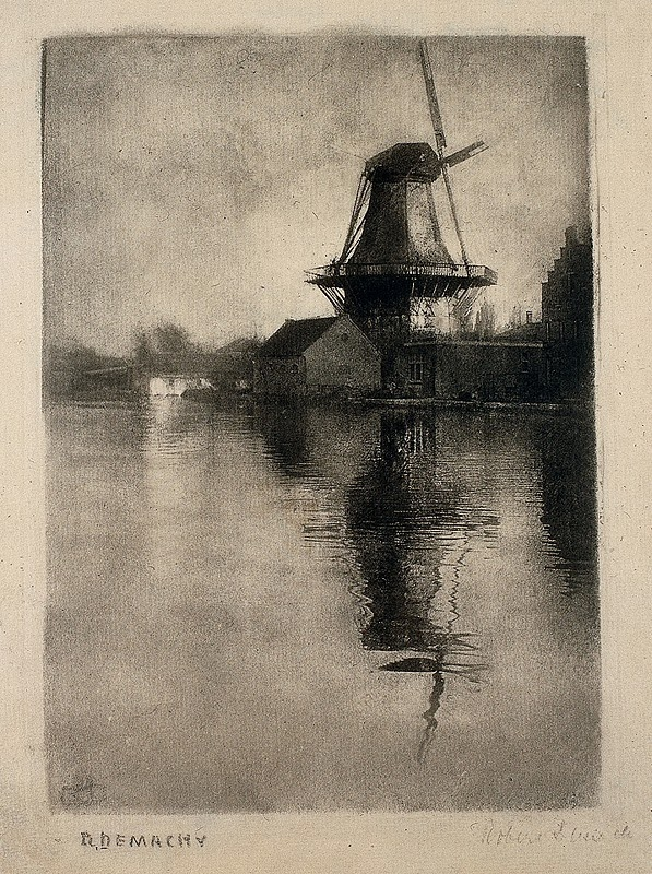 Robert Demachy, Windmill 'De Eendracht' near Alphen