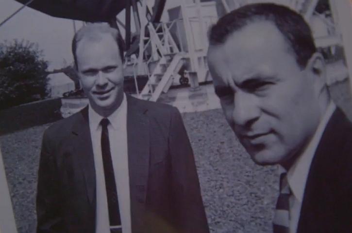 Robert Wilson (left) and Arno Penzias