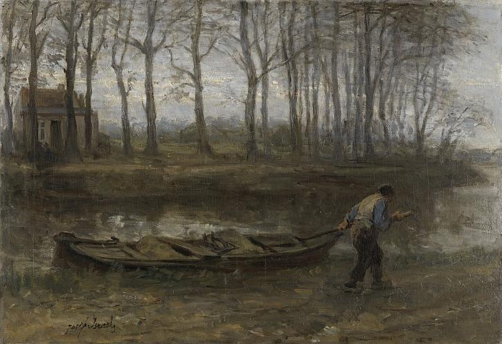 The Sand Bargeman, Jozef Israëls, 1887