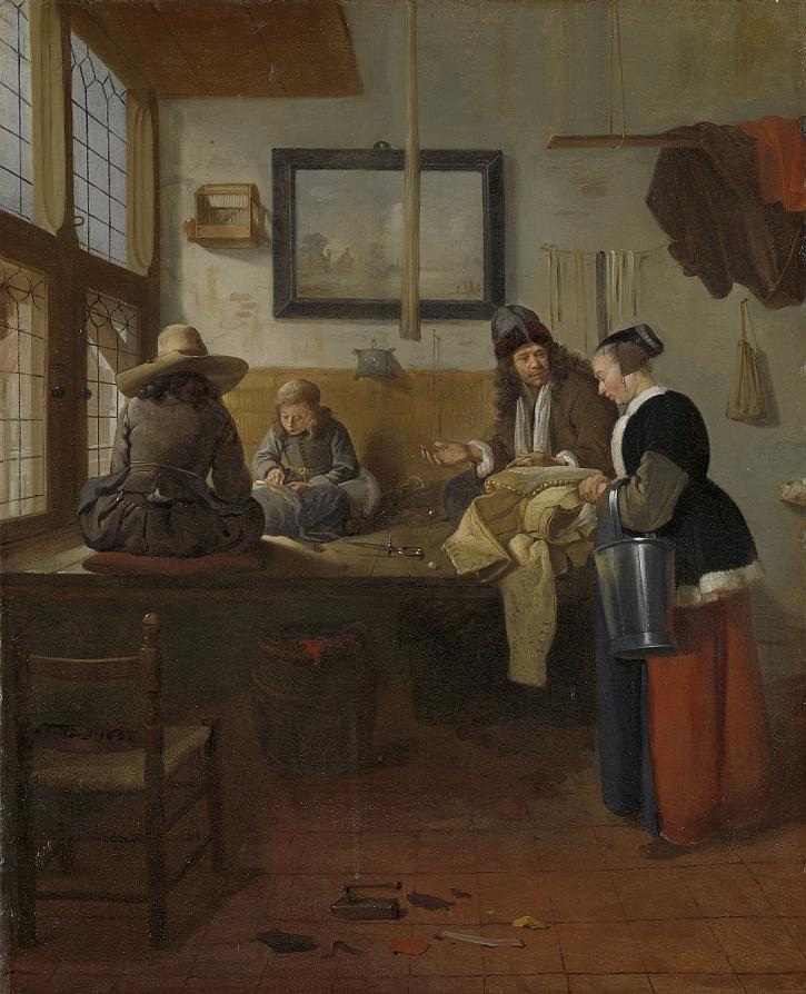 Quiringh Gerritsz. van Brekelenkam, The Tailor's Workshop, 1661