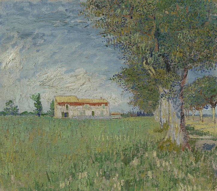 Van Gogh, Farmhouse in a Wheatfield