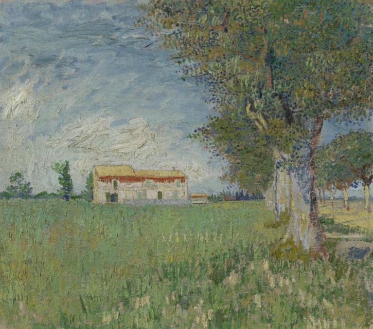 Van Gogh, Farmhouse in a Wheatfield