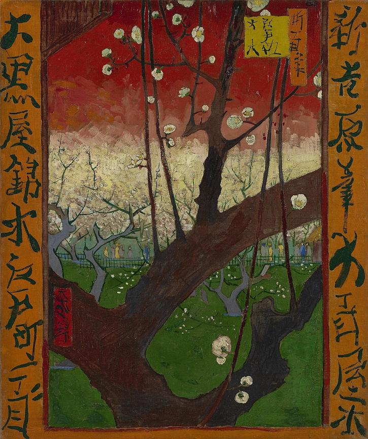 Van Gogh, Flowering Plum Tree After Hiroshige, 1887