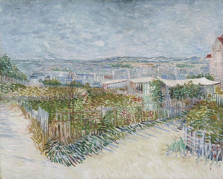 Van Gogh, Montmartre Behind the Moulin de la Galette