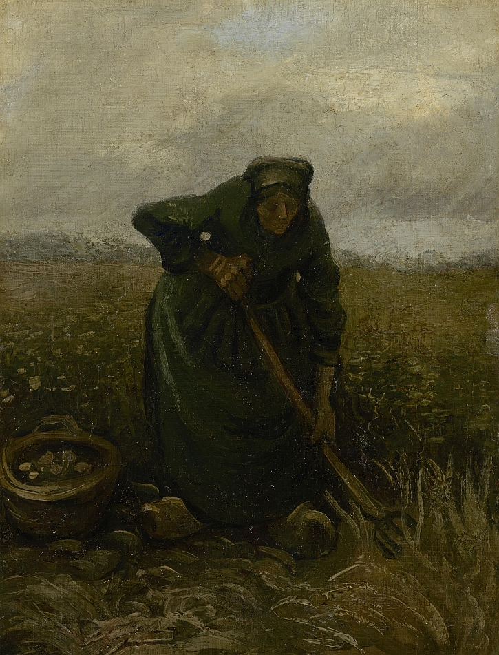 Van Gogh, Woman Lifting Potatoes