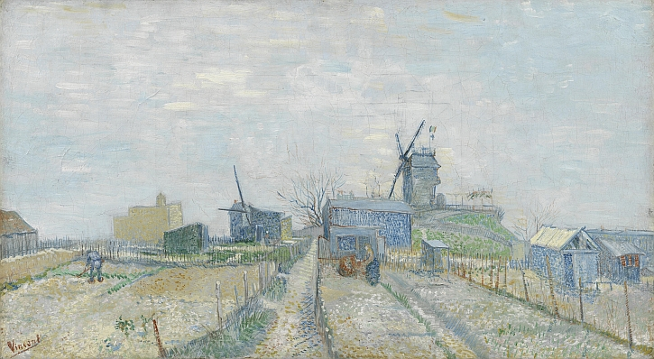 Van Gogh, Montmartre Windmills and Allotments