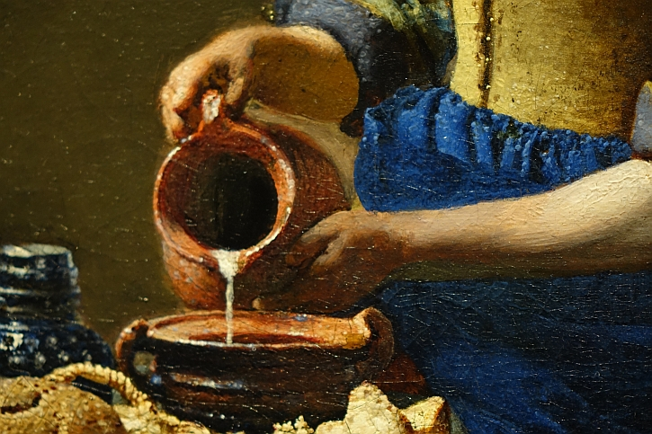 Johannes Vermeer, The Milkmaid, detail