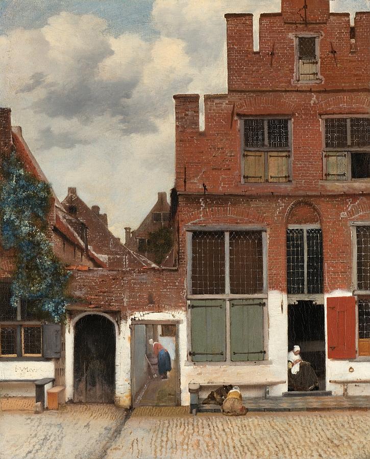 Johannes Vermeer, View of Houses in Delft, aka The Little Street, c.1660