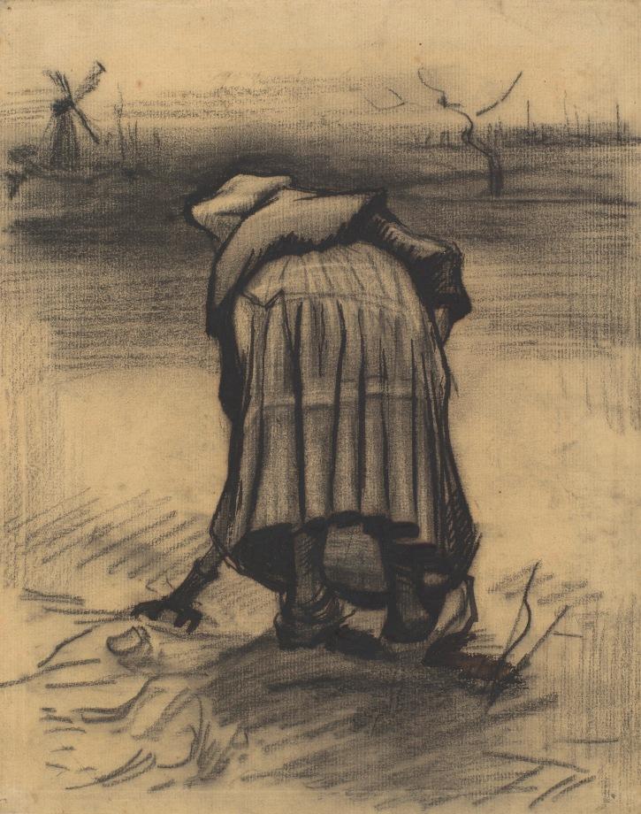 Vincent van Gogh, Woman Lifting Potatoes, 1885