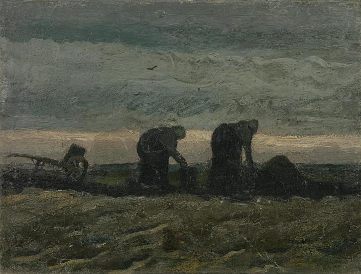 Vincent van Gogh, Women on the Peat Moor, 1883