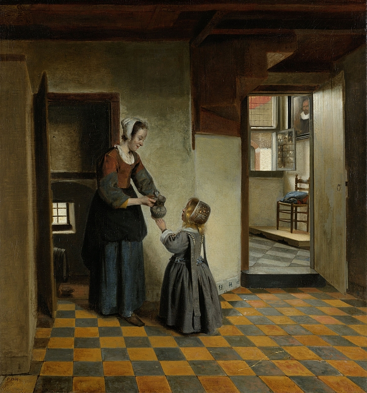 Woman with a Child in a Pantry, Pieter de Hooch, c. 1656 - c. 1660