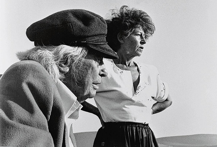 Joris Ivens and Marceline Loridan-Ivens in 1988