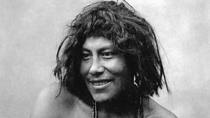 Photograph of a Kaweskar from Chile, around 1930, from 'The Pearl Button'