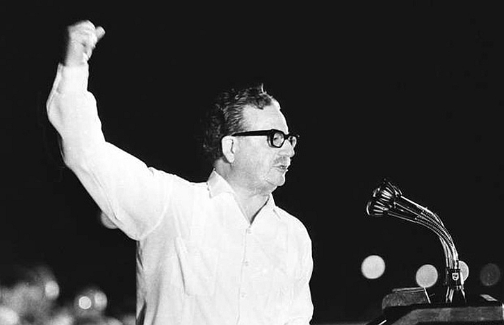 Salvador Allende: a screenshot from Guzman's classic film, The Battle of Chile