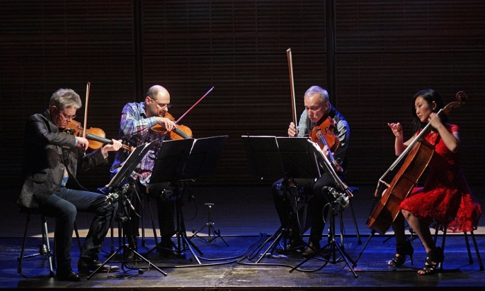 The Kronos Quartet at RNCM: all kinds of music, every which way