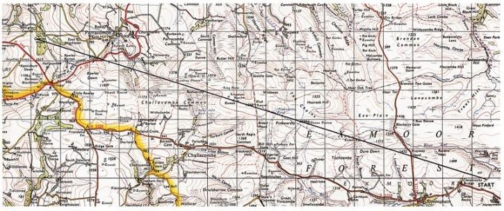 Richard Long, Ten Miles on Exmoor, 1968