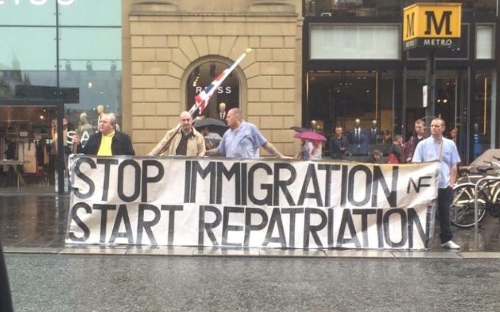 A protest in Newcastle on Saturday afternoon, 25 June 2016