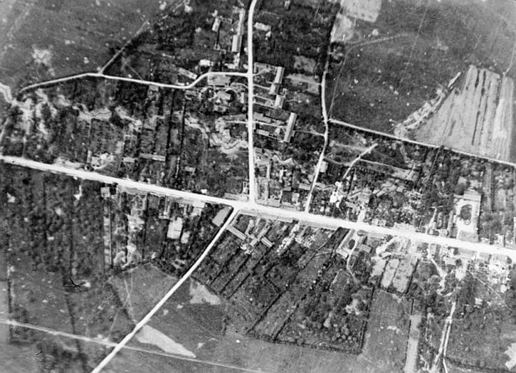 Aerial 'before' of Pozières, 17 June 1916. IWM