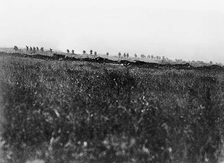 company of Tyneside Irish going forward just after zero hour on 1 July 1916