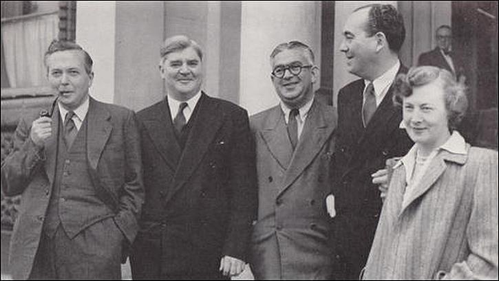 Bevanites: Harold Wilson, Aneurin Bevan, Ian Mikardo, Tom Driberg and Barbara Castle in 1951