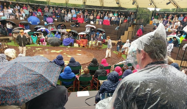 Wet but not down-hearted: As You Like It in Grosvenor Park