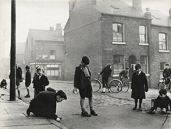 Children play in the street: Leeds 1957