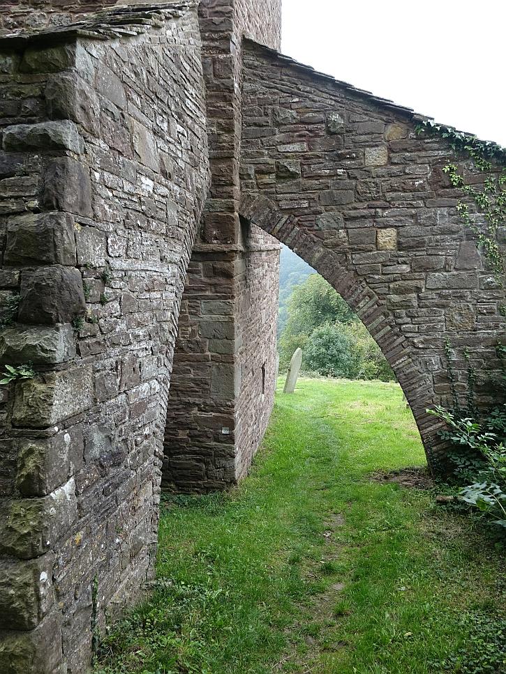 Strategic buttressing at Cwmyoy church