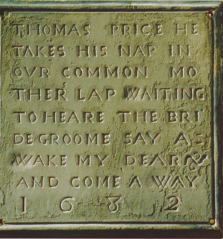 The memorial to Tom Price
