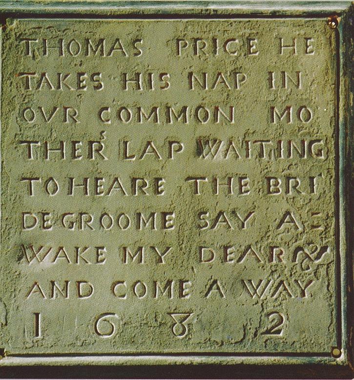 The memorial to Tom Price