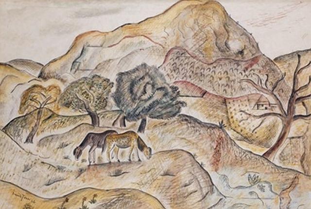 David Jones, Hill Pasture, Capel-y-ffin,1925