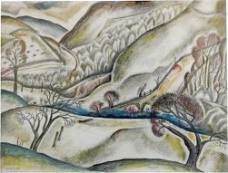 David Jones, Melting Snow, 1925