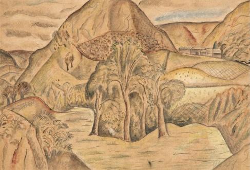 David Jones, Y Twmpa, Nant Honddu,1926