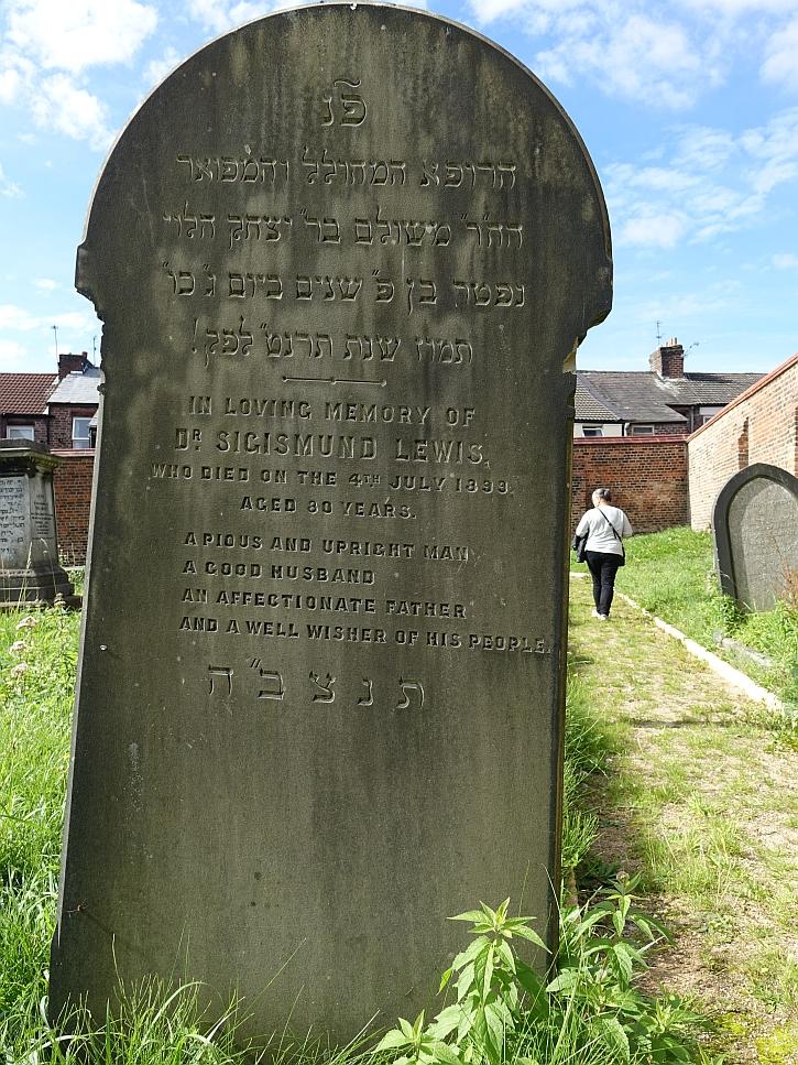 The gravestone of Dr Sigismund Lewis