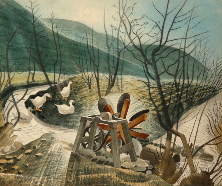 Eric Ravilious, The Waterwheel, 1938