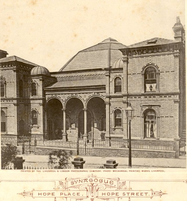 Hope Place synagogue in 1850