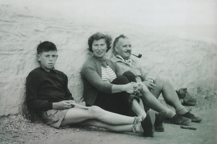 Keith Richards with mum and dad on summer holiday in Devon in the 1950s