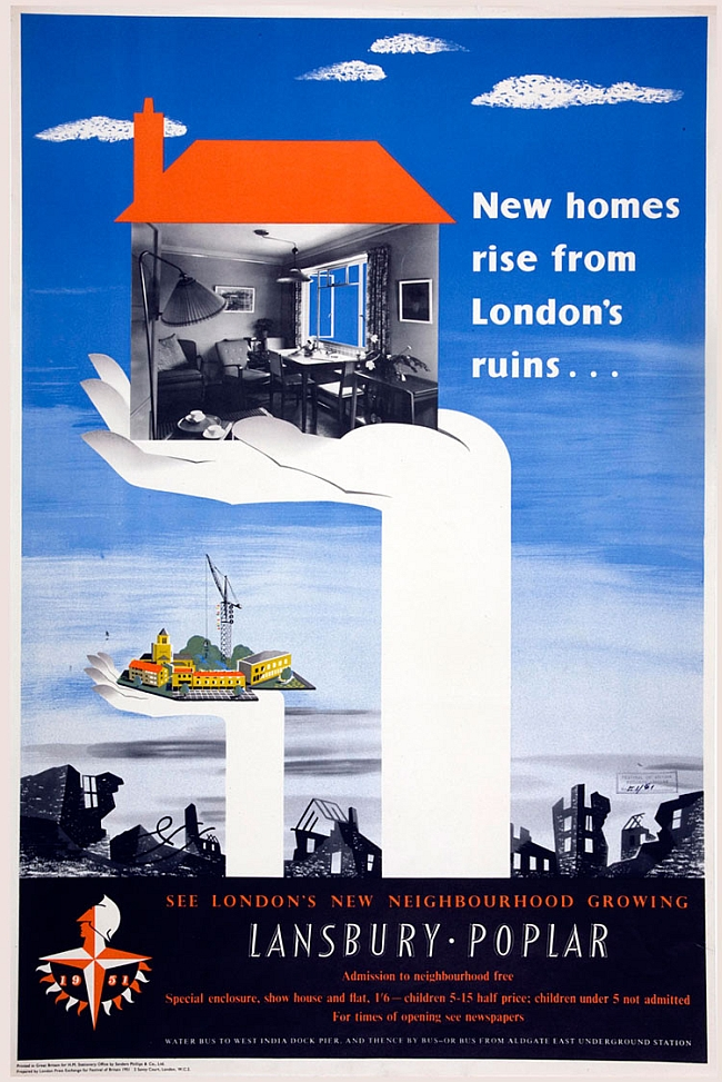 A poster for a new housing-estate in Poplar,1951