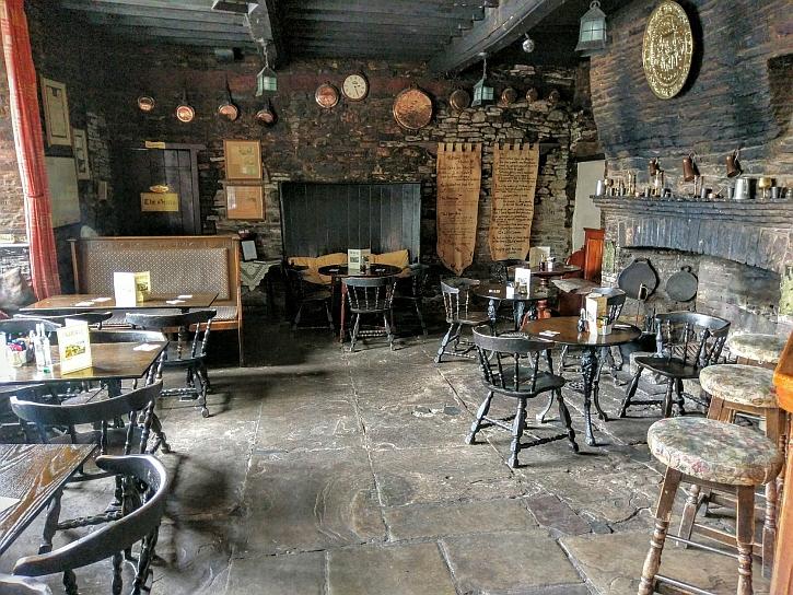 The public bar in the Skirrid Inn