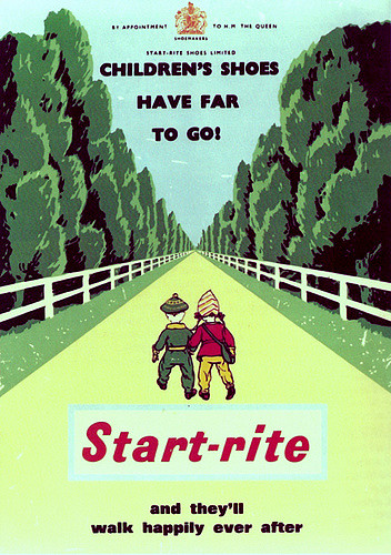 An advert for Start-rite shoes from 1950