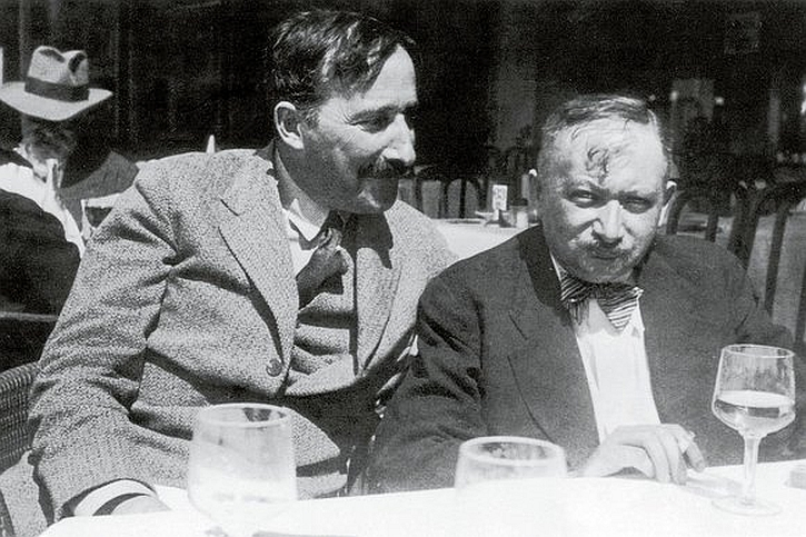 Stefan Zweig and Joseph Roth in Ostend, 1936