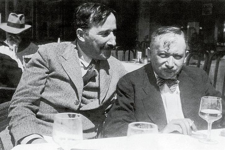 Stefan Zweig and Joseph Roth in Ostend, 1936