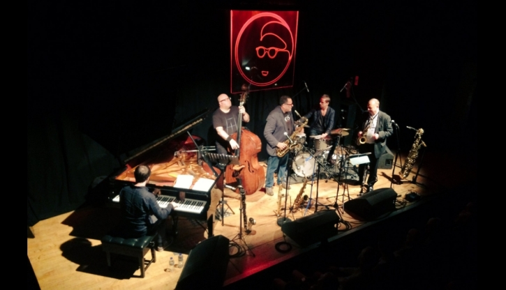 Frank Harrison piano, Yaron Stavi double bass, Asaf Sirkis drums, Gilad Atzmon and Alan Barnes, sax