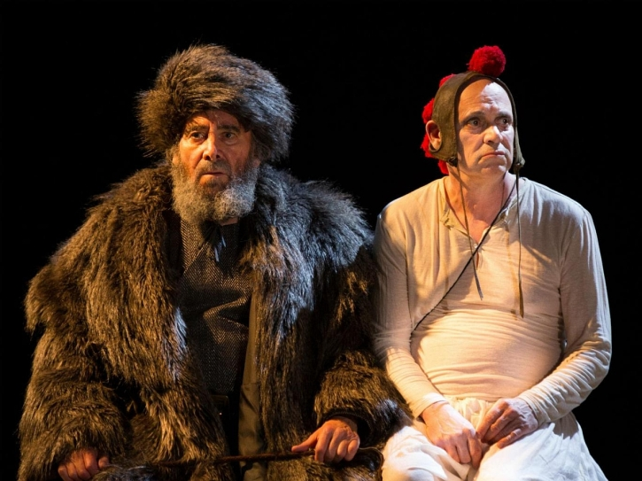 Antony Sher as Lear with Graham Turner as Fool