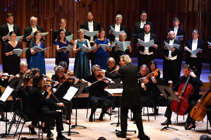 World Premiere of Sir James MacMillan's Stabat mater at the Barbican, commissioned by the Genesis Foundation, performed by The Sixteen and Britten Sinfonia, conducted by Harry Christophers, on Saturday 15 October 2016 Photo by Mark Allan