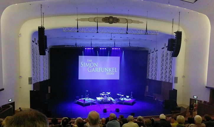The stage at the Liverpool Philharmonic before the show