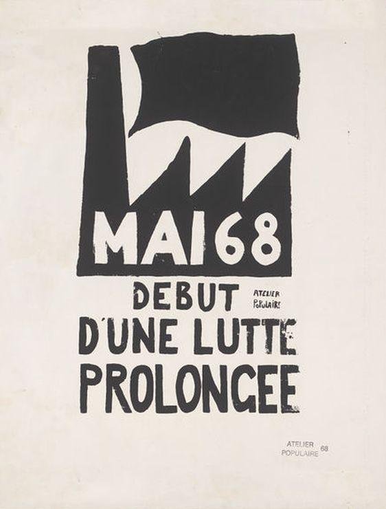 'Debut d'une lutte prolonge', Atelier Populaire, Paris, May 1968