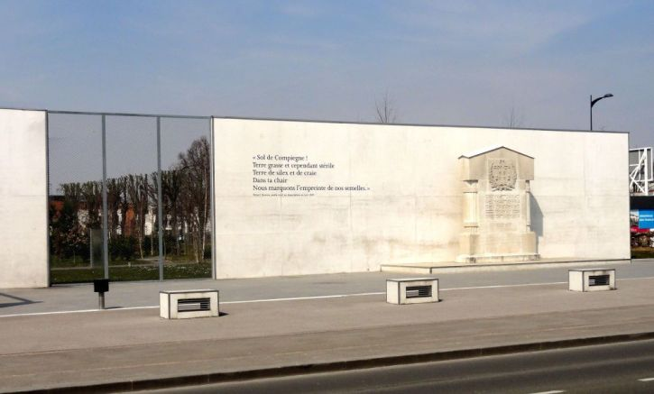The memorial to the concentration camp at Compeigne